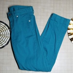 Uniqlo Denim Teal Skinny Jeans size 24